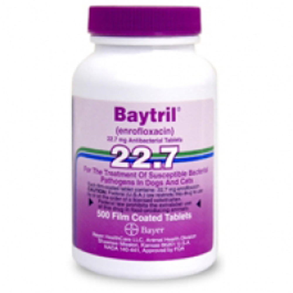 Baytril Purple 22.7mg (Per Film Coated Tablet)