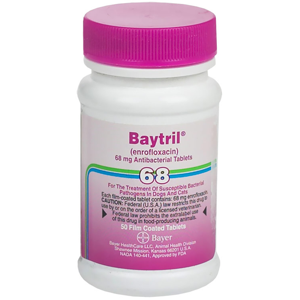 Baytril Purple 68mg (Per Film Coated Tablet)