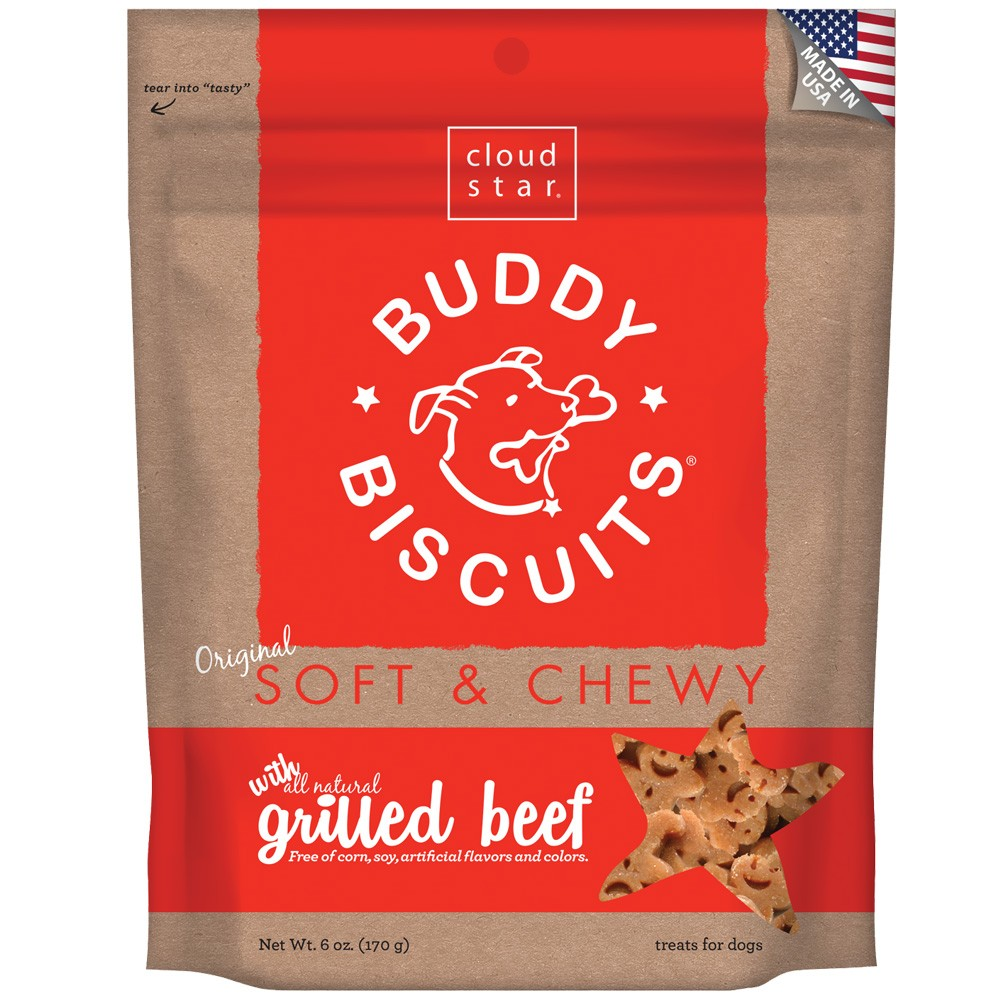 Cloud Star Buddy Biscuits Soft & Chewy Dog Treats - Grilled Beef Flavor (6 oz) CLOUD17100