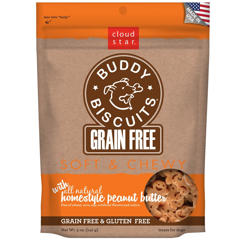 Cloud Star Grain Free Soft & Chewy Buddy Biscuits Homestyle Peanut Butter (5 oz) CLOUD28250