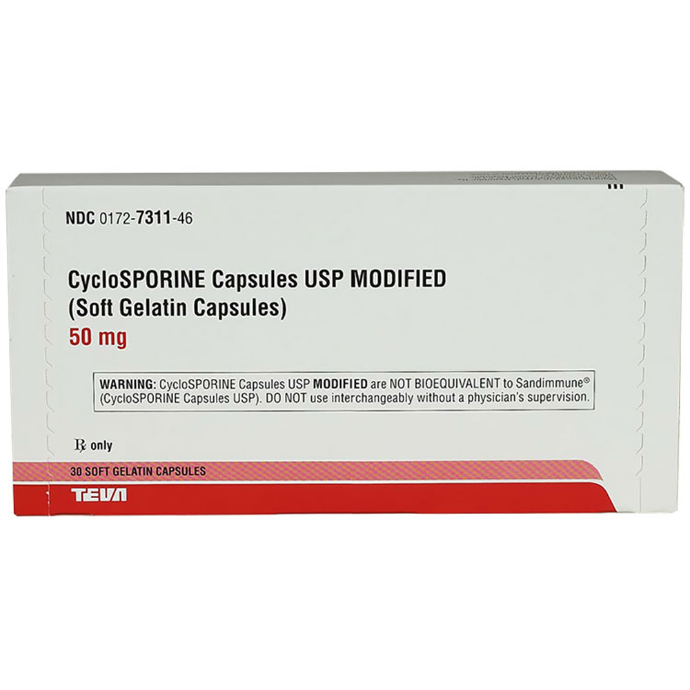 Cyclosporine Modified 50mg (Per Caps)