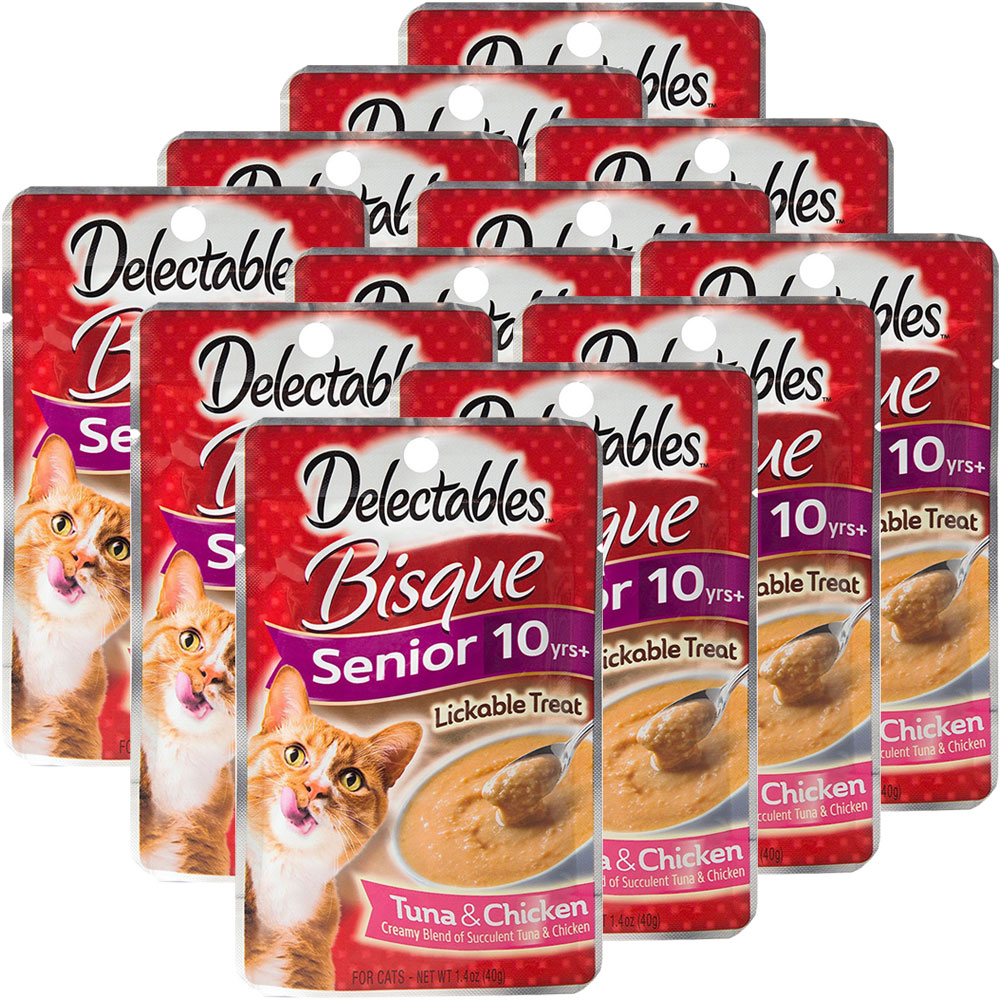 Delectables Bisque Lickable Treat For Senior Cats Tuna