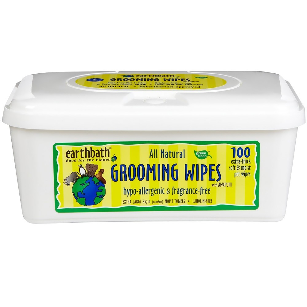 Earthbath Dogs - Grooming Wipes Hypo-Allergenic - 100 Count PH7W