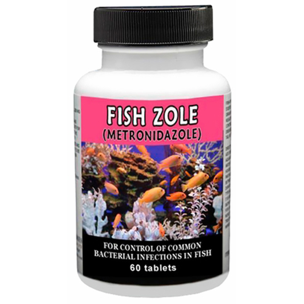 Fish zole metronidazole 250mg 60 tablets for Metronidazole for fish