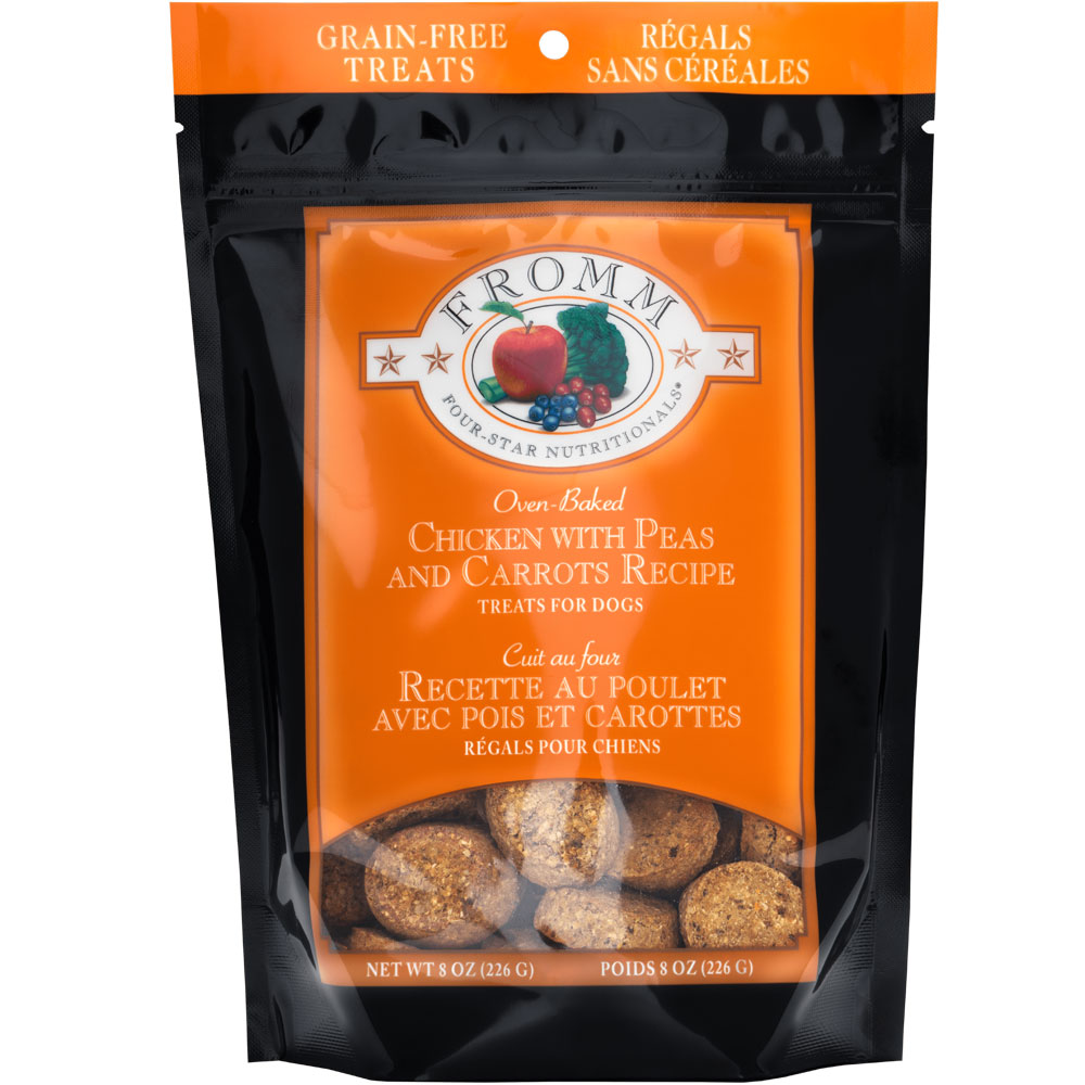 Fromm Four-Star Grain-Free Treats for Dogs - Chicken with Carrots & Peas (8 oz) FRM12111
