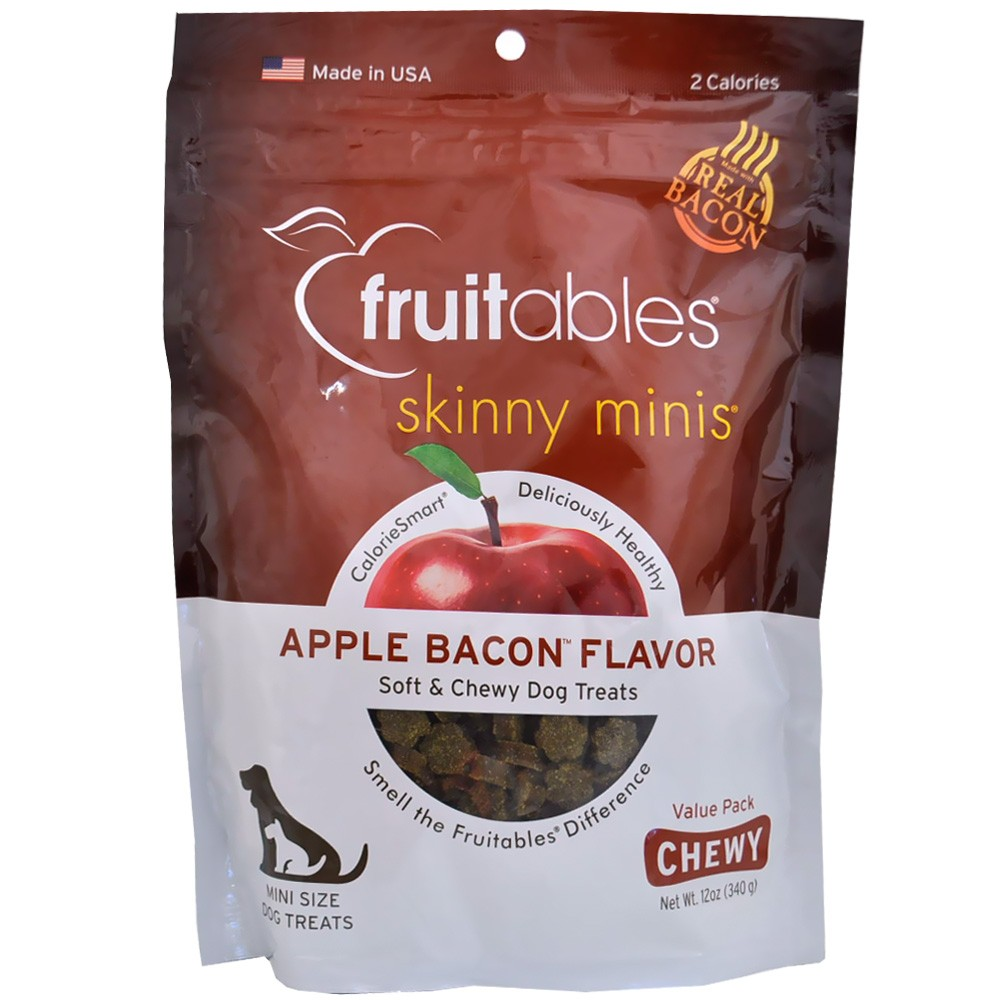 Fruitables Skinny Minis Soft & Chewy Dog Treats - Apple Bacon (12 oz) FRUIT2591