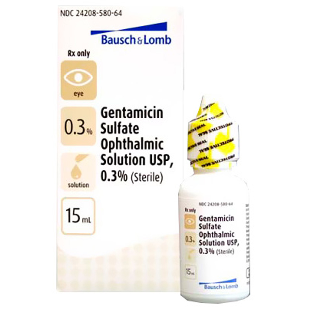 Gentamicin 0.3% Ophthalmic Sol 15ml (Manufacture may vary)