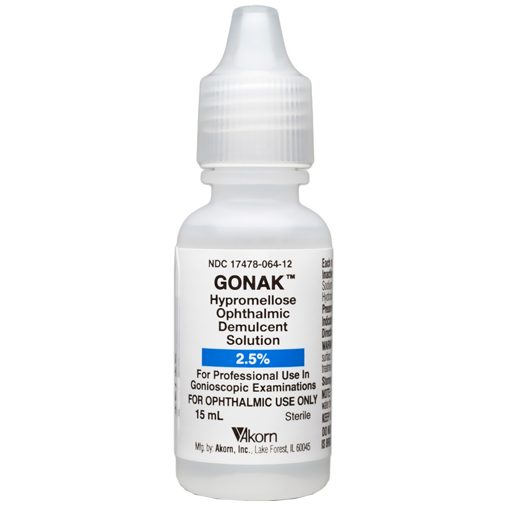 Gonak-Hypromellose Ophthalmic Solution 2.5% (15 ml) (Manufacture may vary)