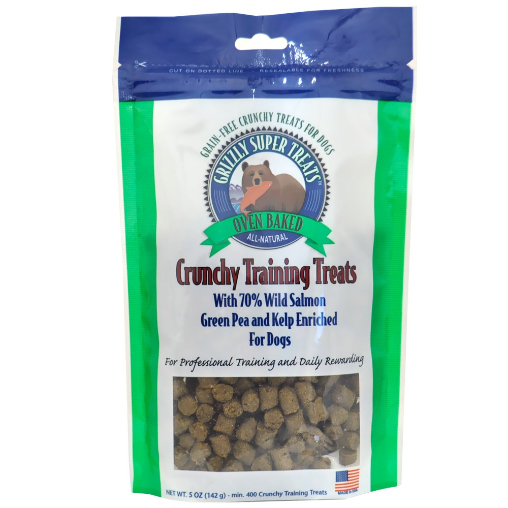Grizzly Crunchy Training Treats - Green Pea & Kelp (5 oz) 00505