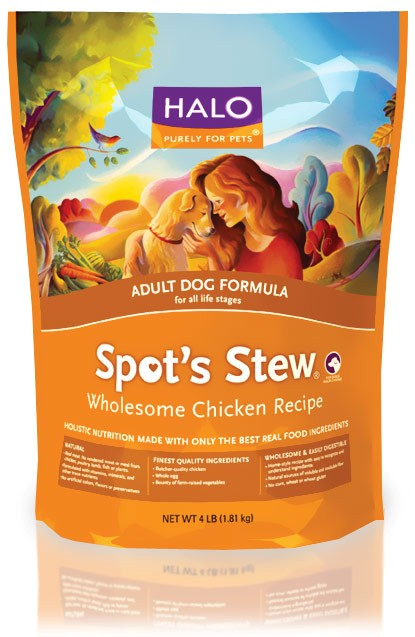 HALO Spot's Stew Wholesome Chicken Dry Adult Dog Food (4 lb) 8360203