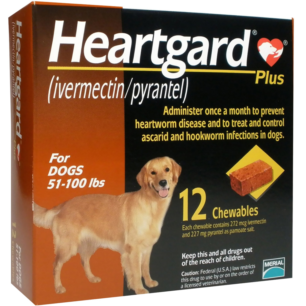 Heartgard PLUS for Dogs 51100 Lbs 12 CHEWS