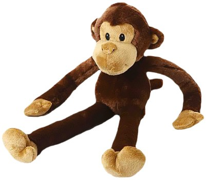 "Multipet Swingin Safari Monkey Plush Dog Toy - Large (22"") MP22374"