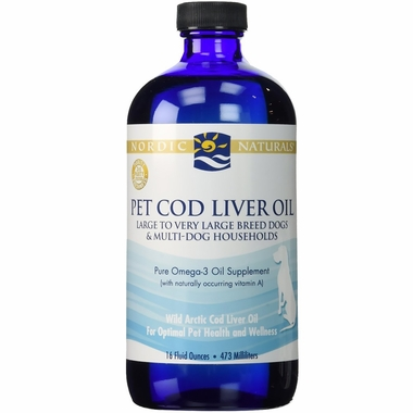Nordic naturals pet cod liver oil 16 oz for Nordic naturals fish oil for dogs
