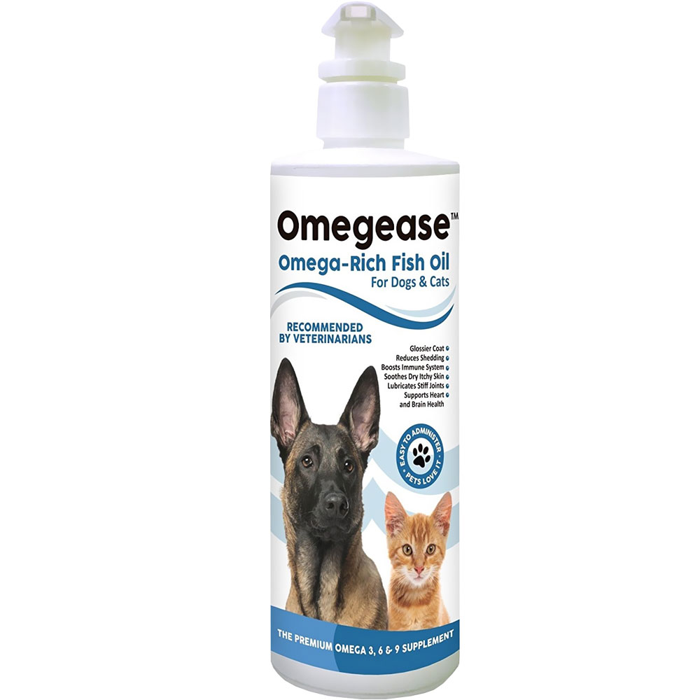 Omegease - Omega Rich Fish Oil for Dogs & Cats (8 fl oz) OMEGEASE-8