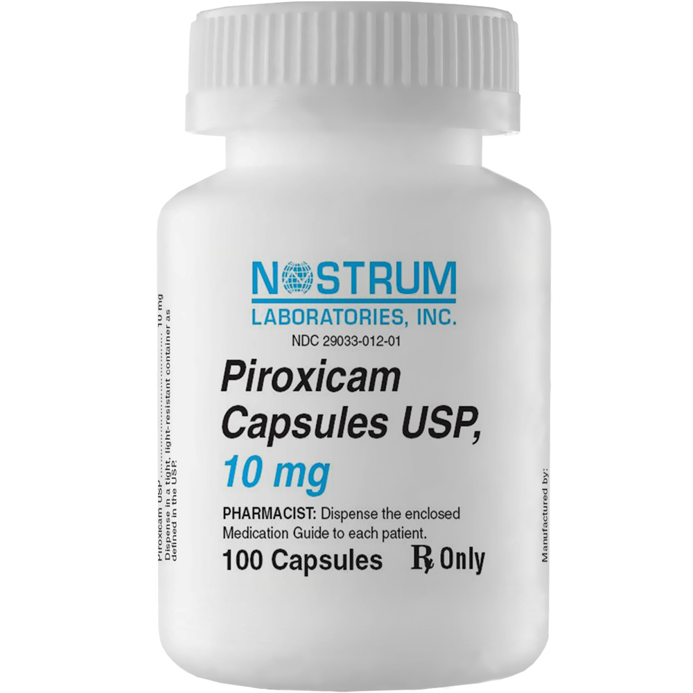 piroxicam 10 mg  per caps   manufacture may vary