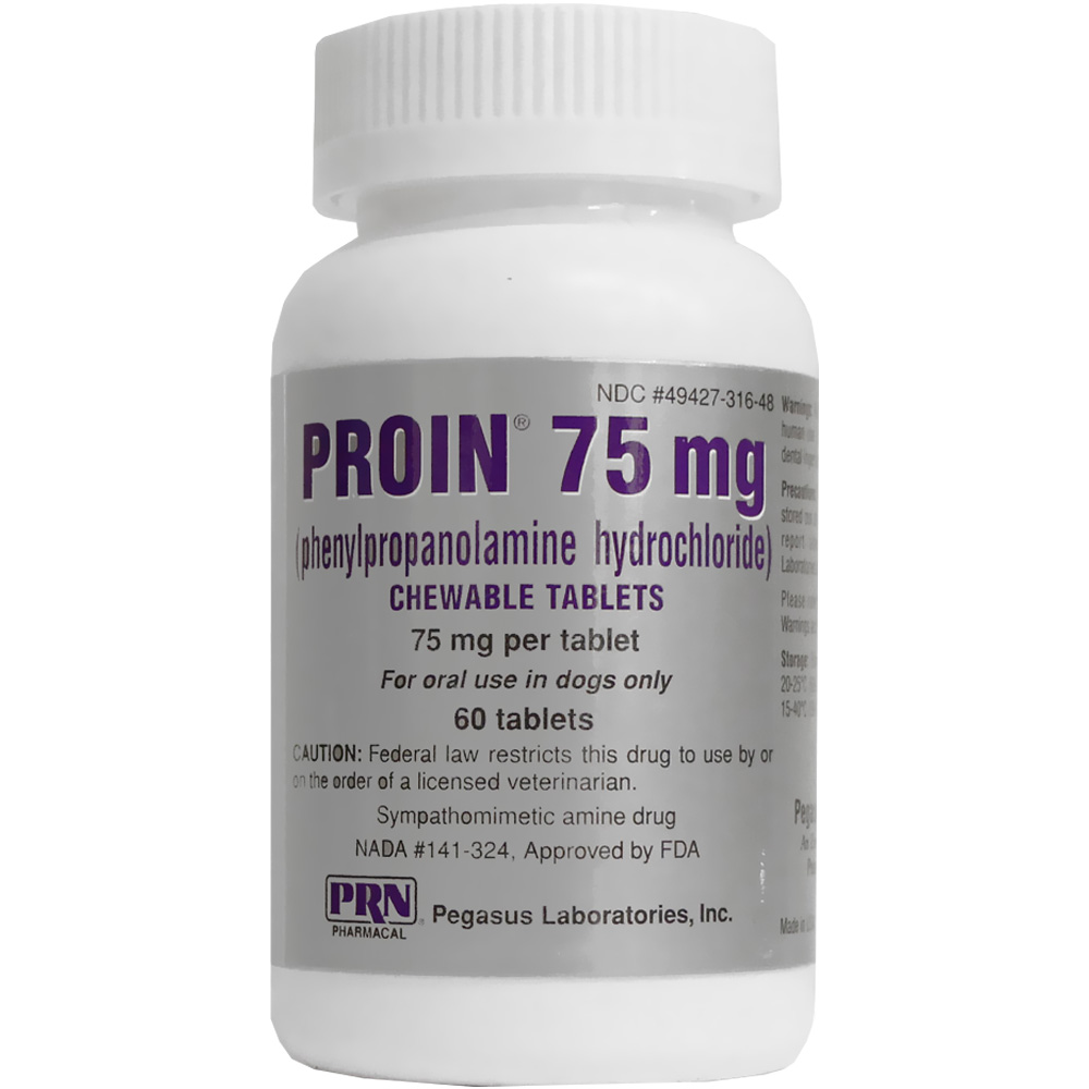 Proin 75 Mg 60 Chewable Tablets