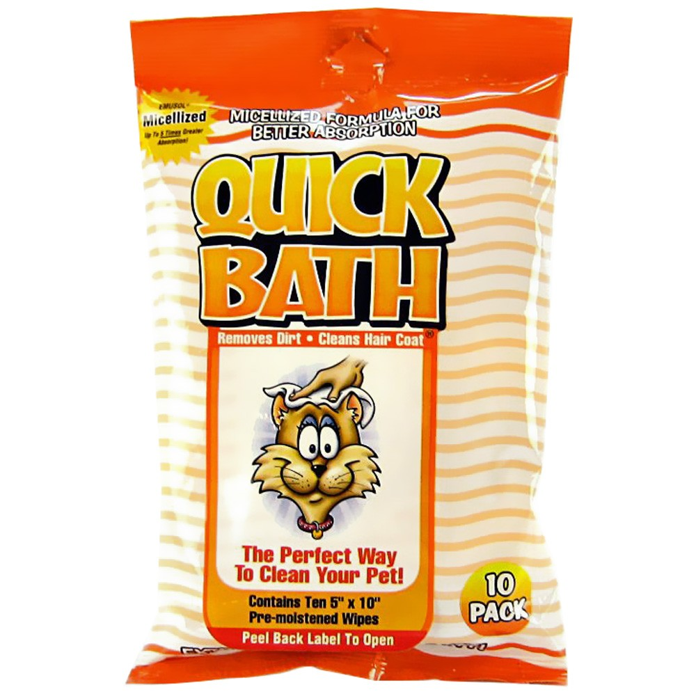 Quick Bath Wipes for Cats - Small (10 Count) 01096