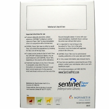 Sentinel Flavor Tabs for Dogs 51 - 100 Lbs (12 Flavor Tabs)