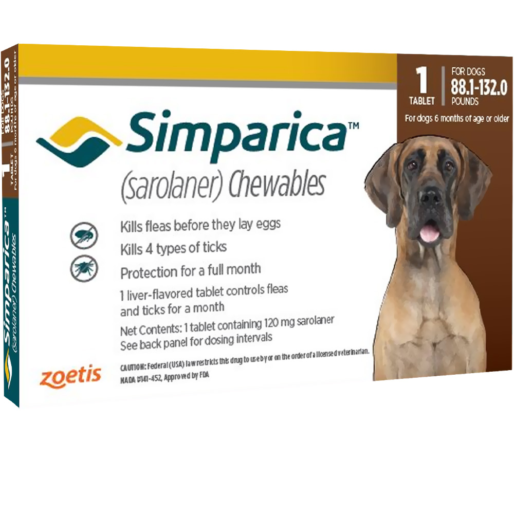 Simparica 88 1 132 0 Lbs 1 Chewable Tab