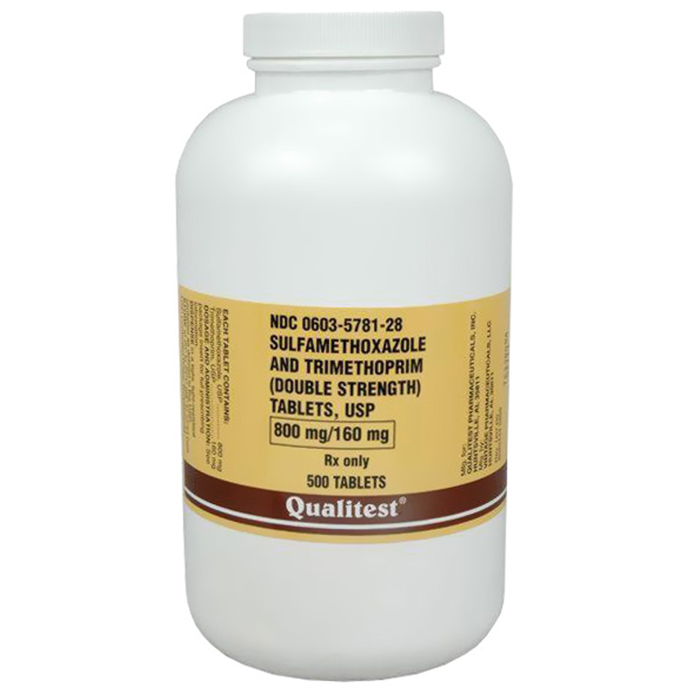Sulfamethoxazole & Trimethoprim 800mg/160 mg (500 tabs) (Manufacture may vary)