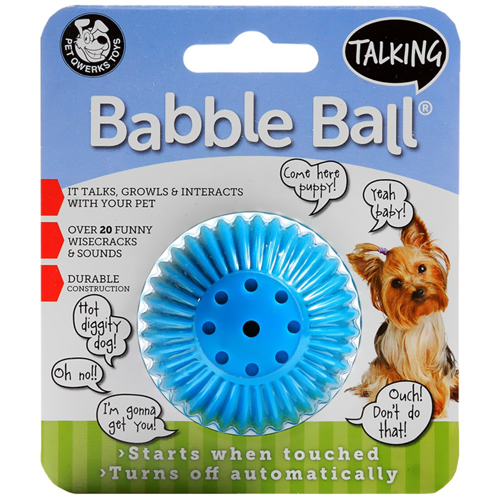 Pet Qwerks TBB3 Small Assorted Colors Talking Babble Balls 229487036