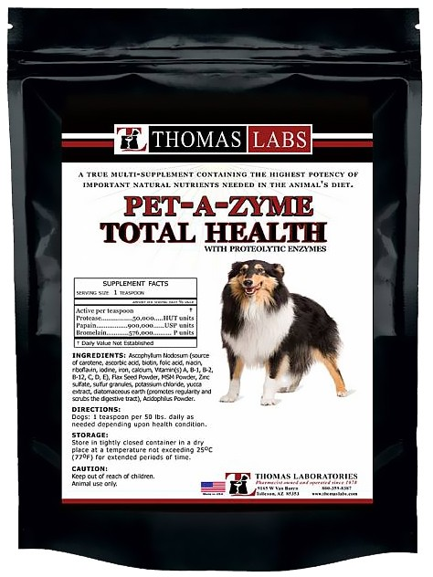 Thomas Labs Pet-A-Zyme Total Health Prozyme Powder (16 oz) 110-5180.P03