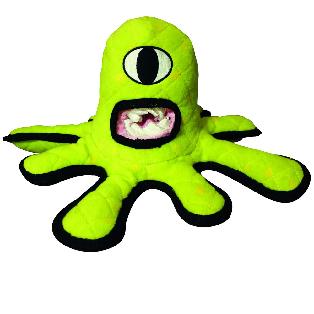 Tuffy's Alien Series Green Alien Dog Toy T-A-GREENALIEN
