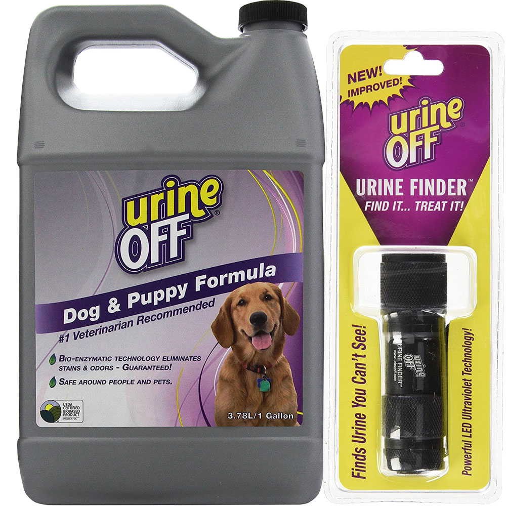 Urine Off Odor & Stain Remover FOR DOGS (GALLON) + UV Lamp UROFF1DOGUV