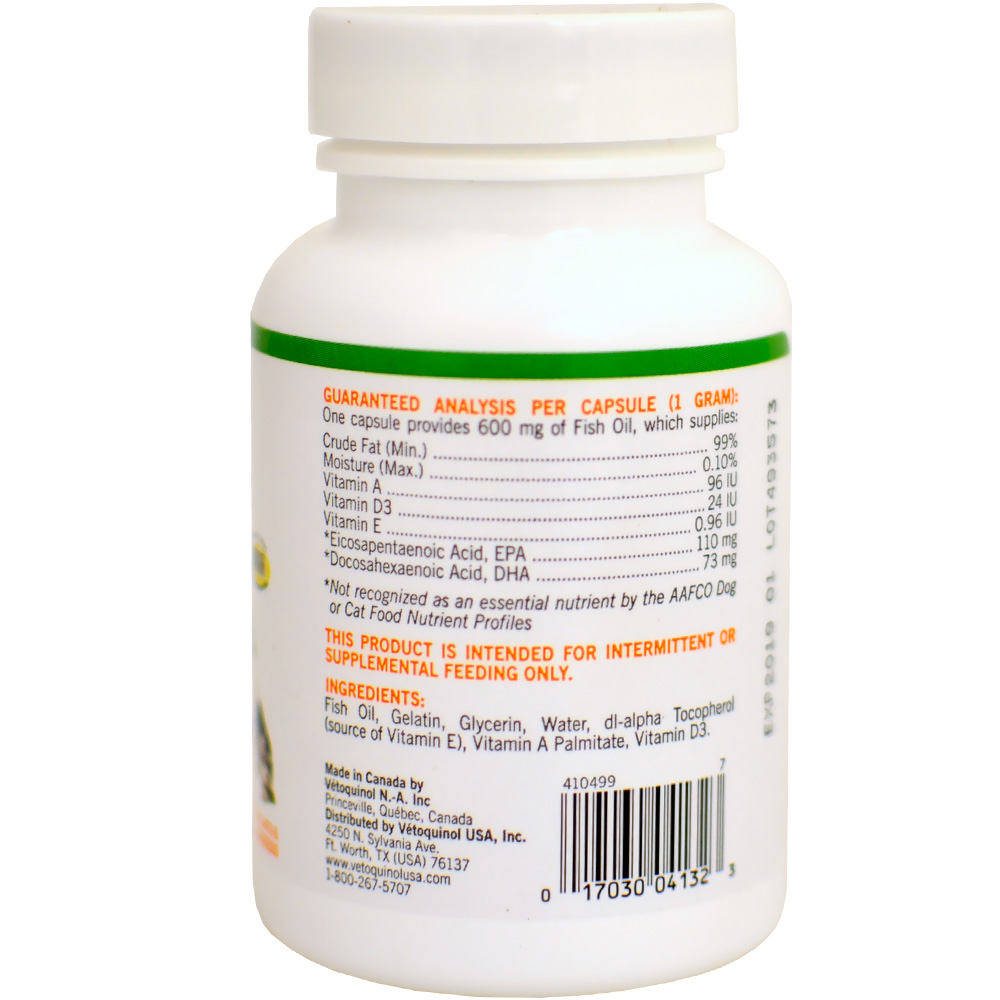 Vetoquinol care triglyceride omega supplement for small for Small fish oil pills