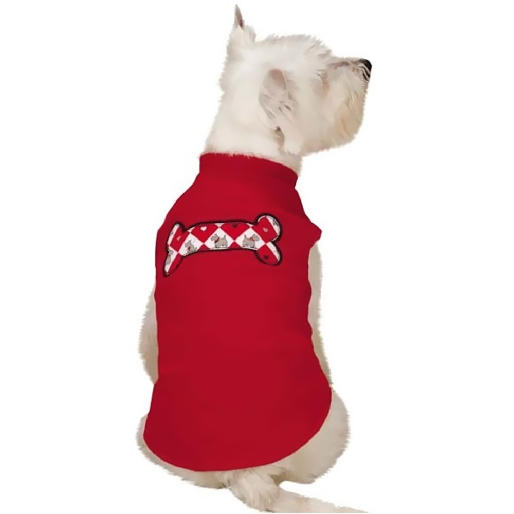 Zack & Zoey Sweetheart Scottie Fleece Vest Red - SMALL UM66291283