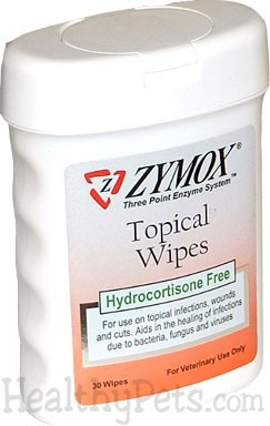 Zymox Topical Wipes with out Hydrocortisone (30 wipes) 015873