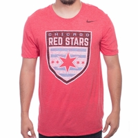 Men's Nike Chicago Red Stars Distressed Crest Tee - Red