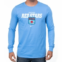 Men's Nike Chicago Red Stars LS Bold Tee - Sky Blue