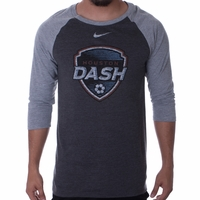 Men's Nike Houston Dash 3/4 Raglan Tee - Heather
