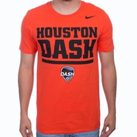 Men's Nike Houston Dash Crest Tee - Team Orange