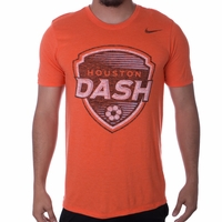 Men's Nike Houston Dash Distressed Crest Tee - Orange