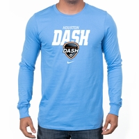 Men's Nike Houston Dash LS Bold Tee - Light Blue