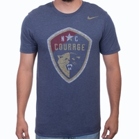 Men's Nike North Carolina Courage Distressed Crest Tee - Navy