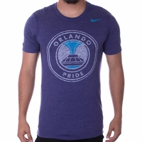 Men's Nike Orlando Pride Distressed Crest Tee - Orchid