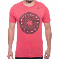 Men's Nike Portland Thorns FC Distressed Crest Tee - Red