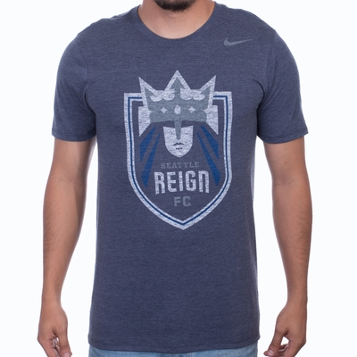 Men's Nike Seattle Reign Distressed Crest Tee - Navy - Click to enlarge