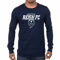 Men's Nike Seattle Reign FC LS Bold Tee - Navy