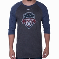 Men's Nike Washington Spirit 3/4 Raglan Tee - Navy Heather