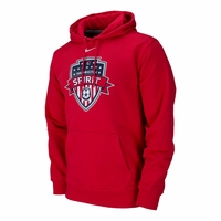 Men's Nike Washington Spirit Club Fleece Hoody - Red