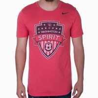 Men's Nike Washington Spirit Distressed Crest Tee - Red