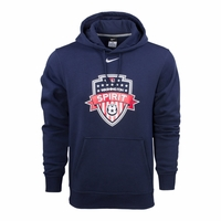 Men's Nike Washington Spirit Fleece Hoody - Navy