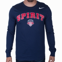 Men's Nike Washington Spirit LS Arched Tee - Navy