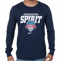 Men's Nike Washington Spirit LS Bold Tee - Navy