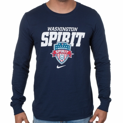 Men's Nike Washington Spirit LS Bold Tee - Navy - Click to enlarge