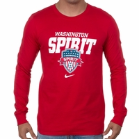 Men's Nike Washington Spirit LS Bold Tee - Red